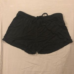 Cynthia Rowley Black Sleep Shorts